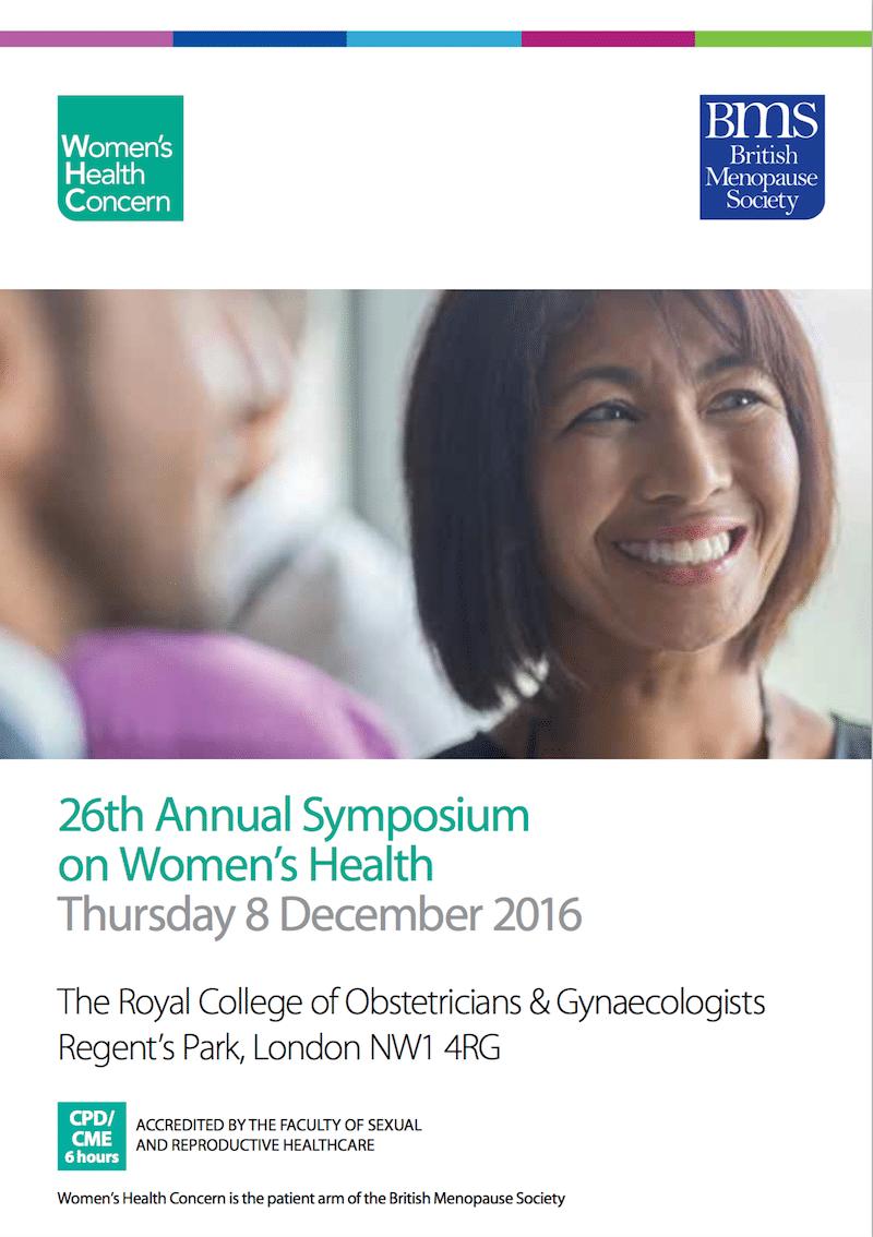 WHC 26th Annual Symposium programm cover